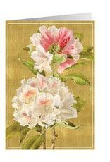 Caspari Wedding Card Watercolor Florals On Gold