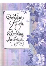 Anniversary Card 25th Wedding Anniversary By Marian Heath