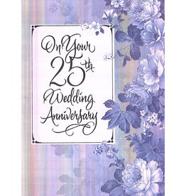 Anniversary Card 25th Wedding Anniversary By Marian Heath