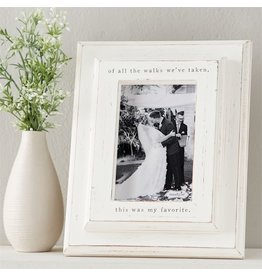 Mud Pie Of All The Walks Wedding Frame 10x8 Holds 4x6 Photo