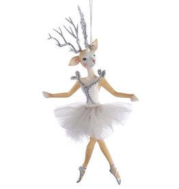 Kurt Adler Reindeer Ballerina Christmas Ornament A