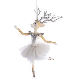Kurt Adler Reindeer Ballerina Christmas Ornament B