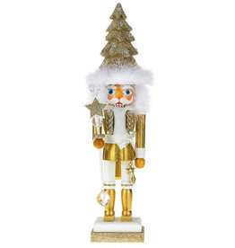 Kurt Adler Hollywood Christmas Tree Hat Nutcracker Gold 17H