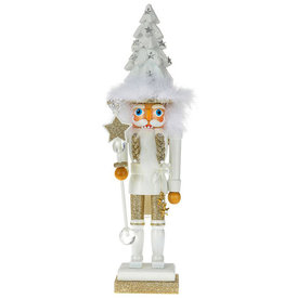 Kurt Adler Hollywood Christmas Tree Hat Nutcracker White 17H
