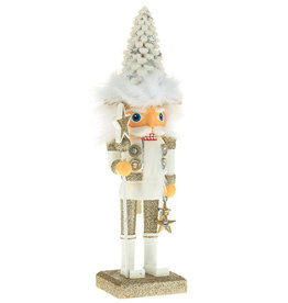 Kurt Adler Hollywood Christmas Tree Hat Nutcracker White 10H