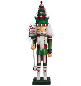 Kurt Adler Hollywood Christmas Tree Hat W Peppermints Nutcracker 17H