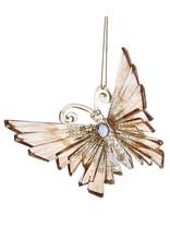 Kurt Adler Shiny Gold Acrylic Glitter Gem Butterfly Ornament