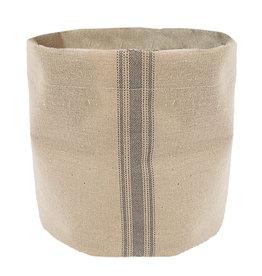 Mud Pie Grainsack Display Bucket Fabric Storage Bin
