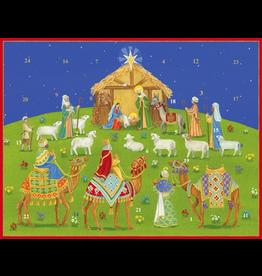 Caspari Advent Calendar Nativity Under the Christmas Sky