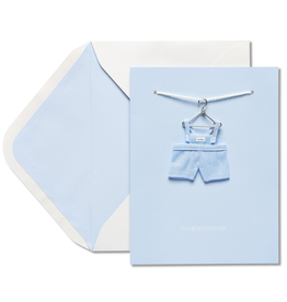 PAPYRUS® New Baby Card Baby Boy Overalls On Hanger