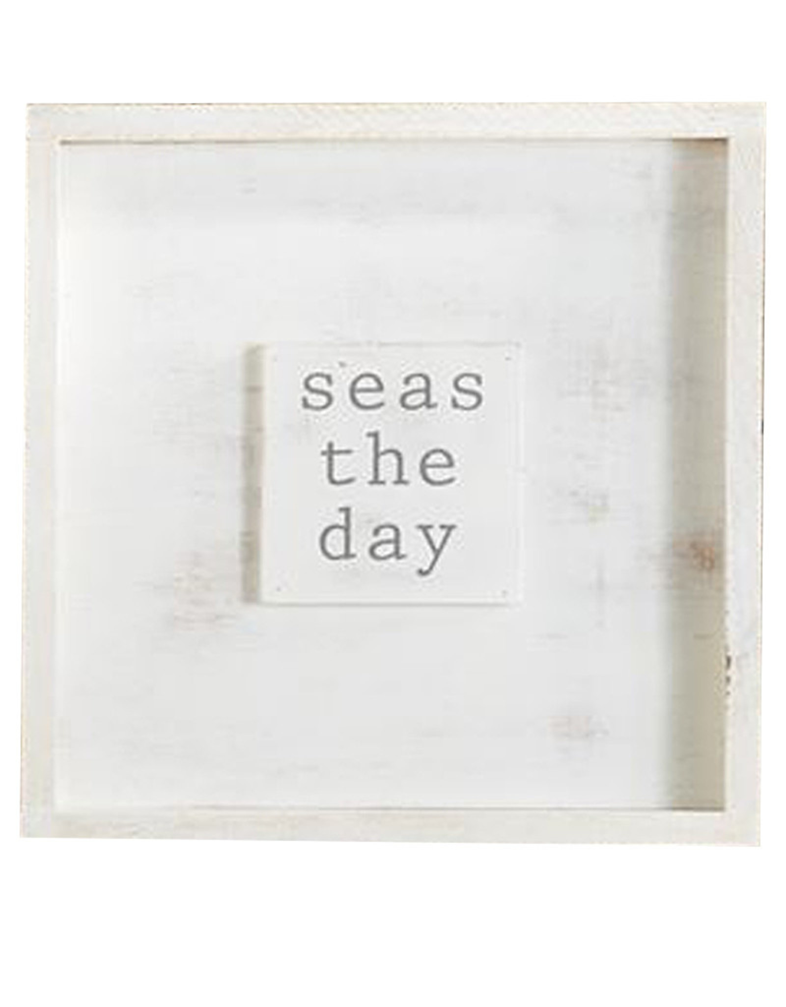 Mud Pie Small Beach House Framed Wall Plaque w Seas The Day