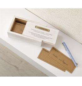 Mud Pie Baby Prayer Box Set Wood w Gold Metal Accent