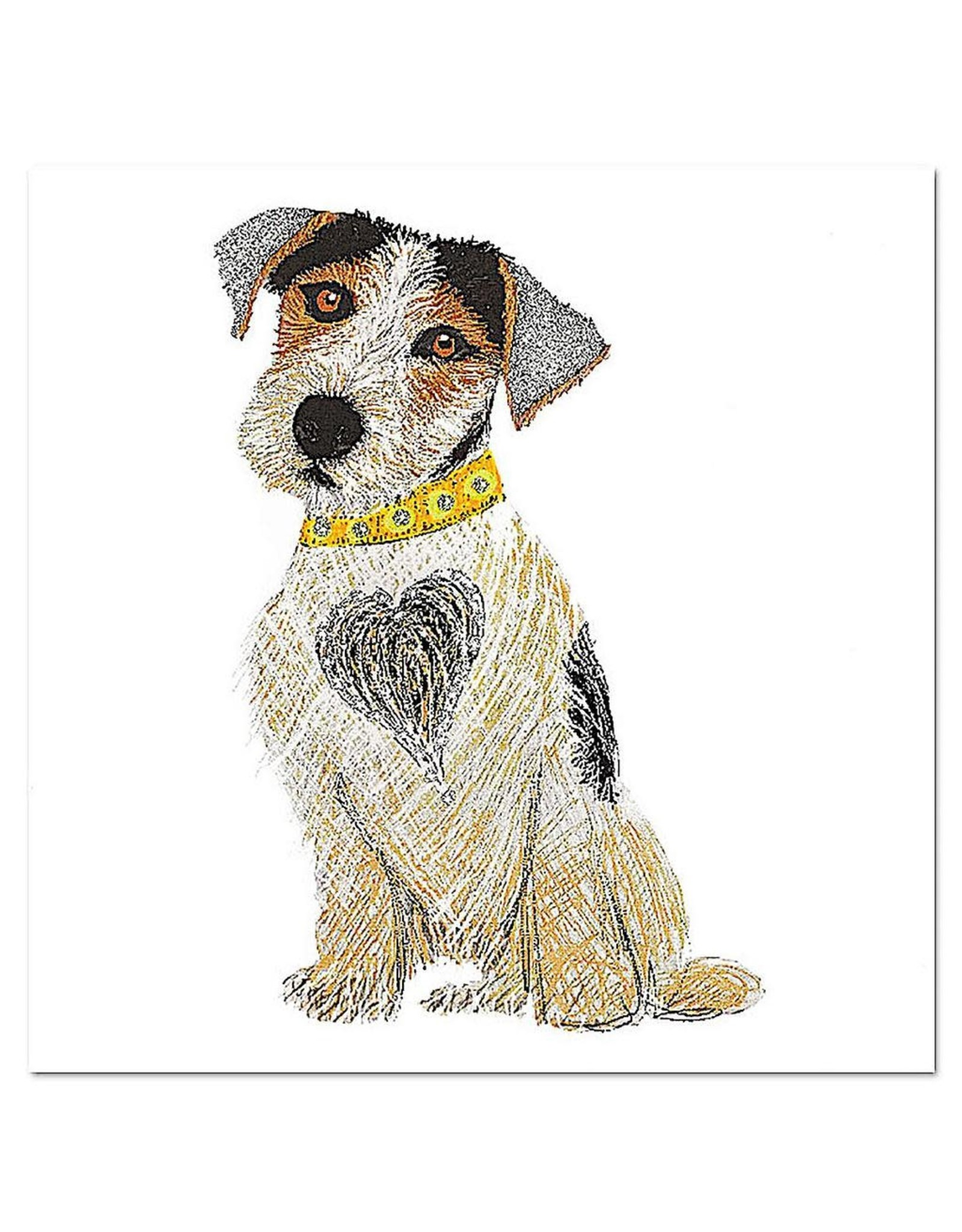 PAPYRUS® Birthday Cards Terrier Dog With Heart