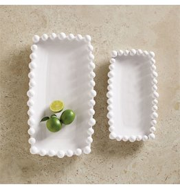 Mud Pie Raised Dot Long Platter LG 8.5x16