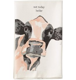 Mud Pie COW Farm Animals Dish Towel Not Today Heifer