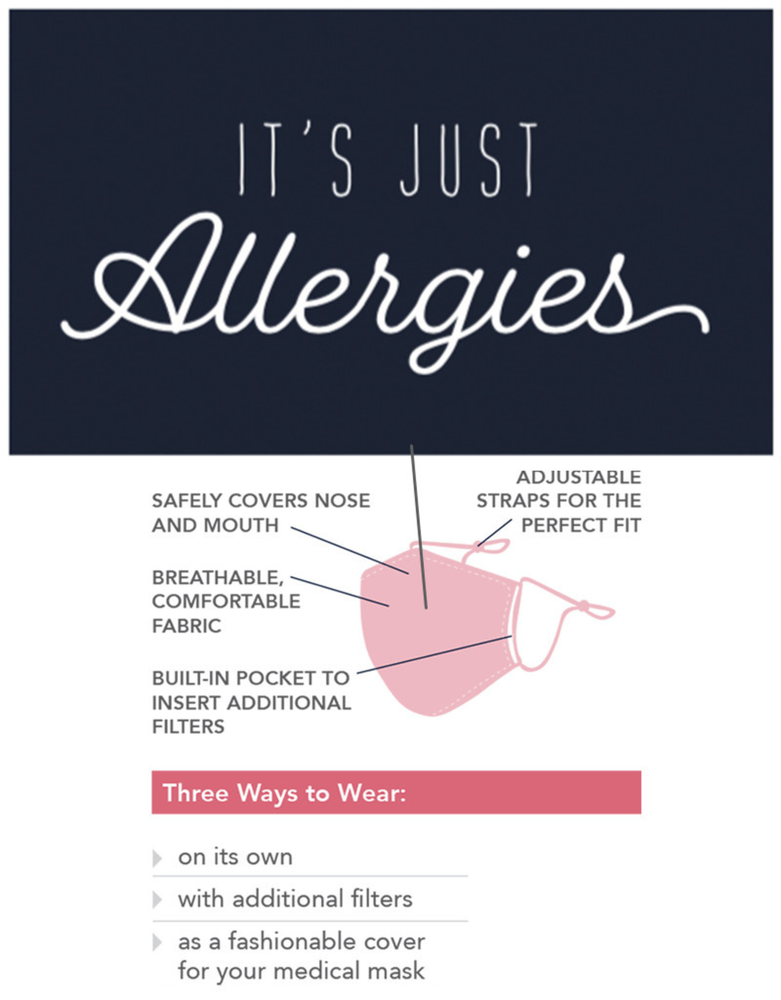 Care Cover™ Protective Face Mask Its Just Allergies