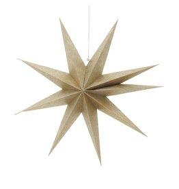Kurt Adler Gold Metallic 3D Paper Star Hanging Ornament 19 Inch