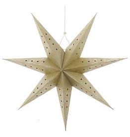 Kurt Adler Gold Metallic 3D Paper Star Hanging Ornament 15 Inch