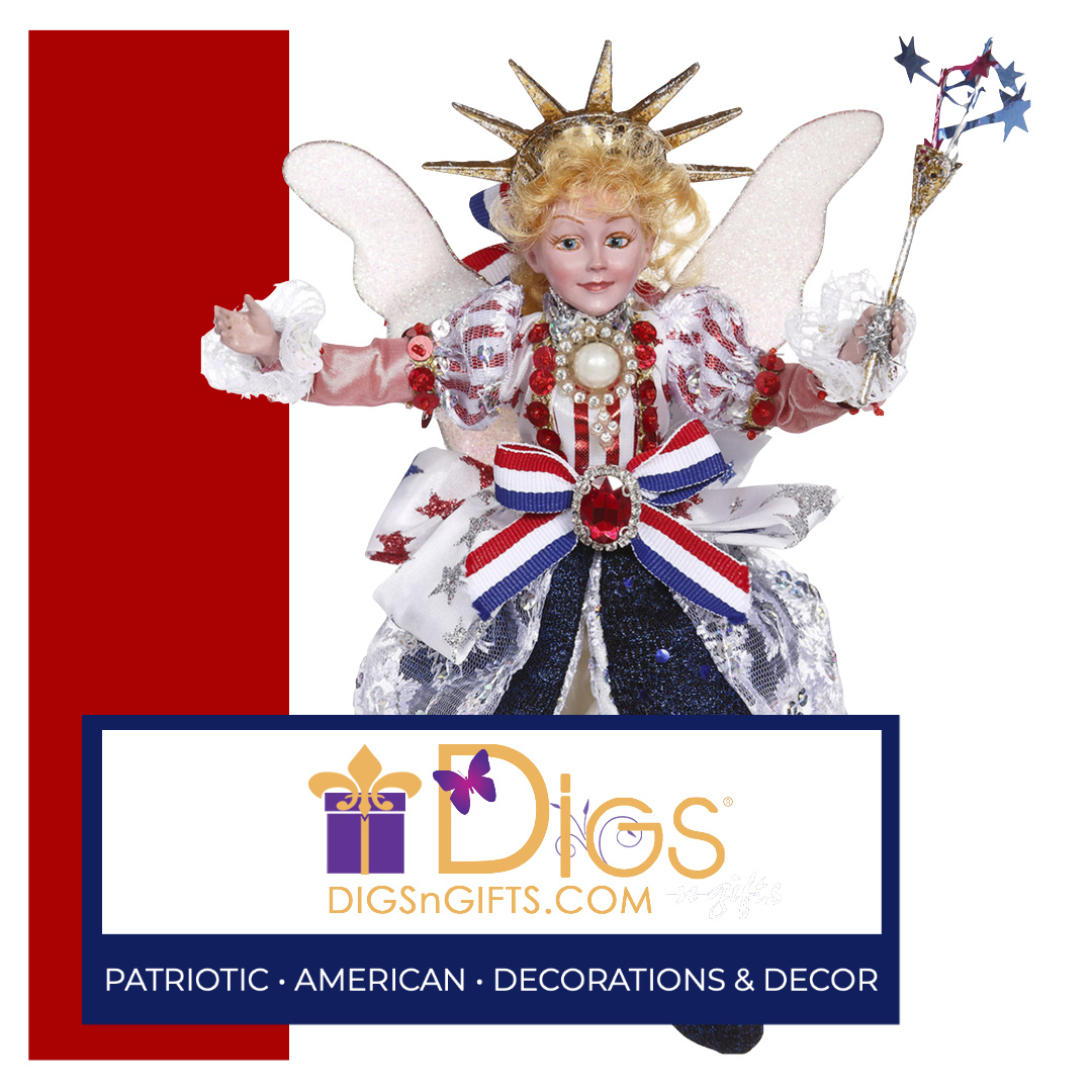 Mark Roberts Fairies Patriotic Lady Liberty for 4th Of July Decorating and Decor