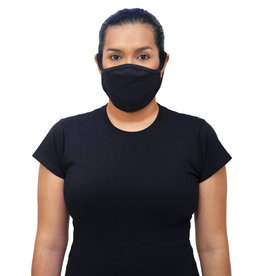 Gildan Adult Cotton Face Mask Black