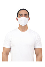 Gildan Adult Cotton Face Mask White