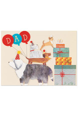 PAPYRUS® Birthday Card For Dad Felted Balloons And Dogs