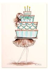 PAPYRUS® Birthday Card Girl Holding Cake Bella Pilar