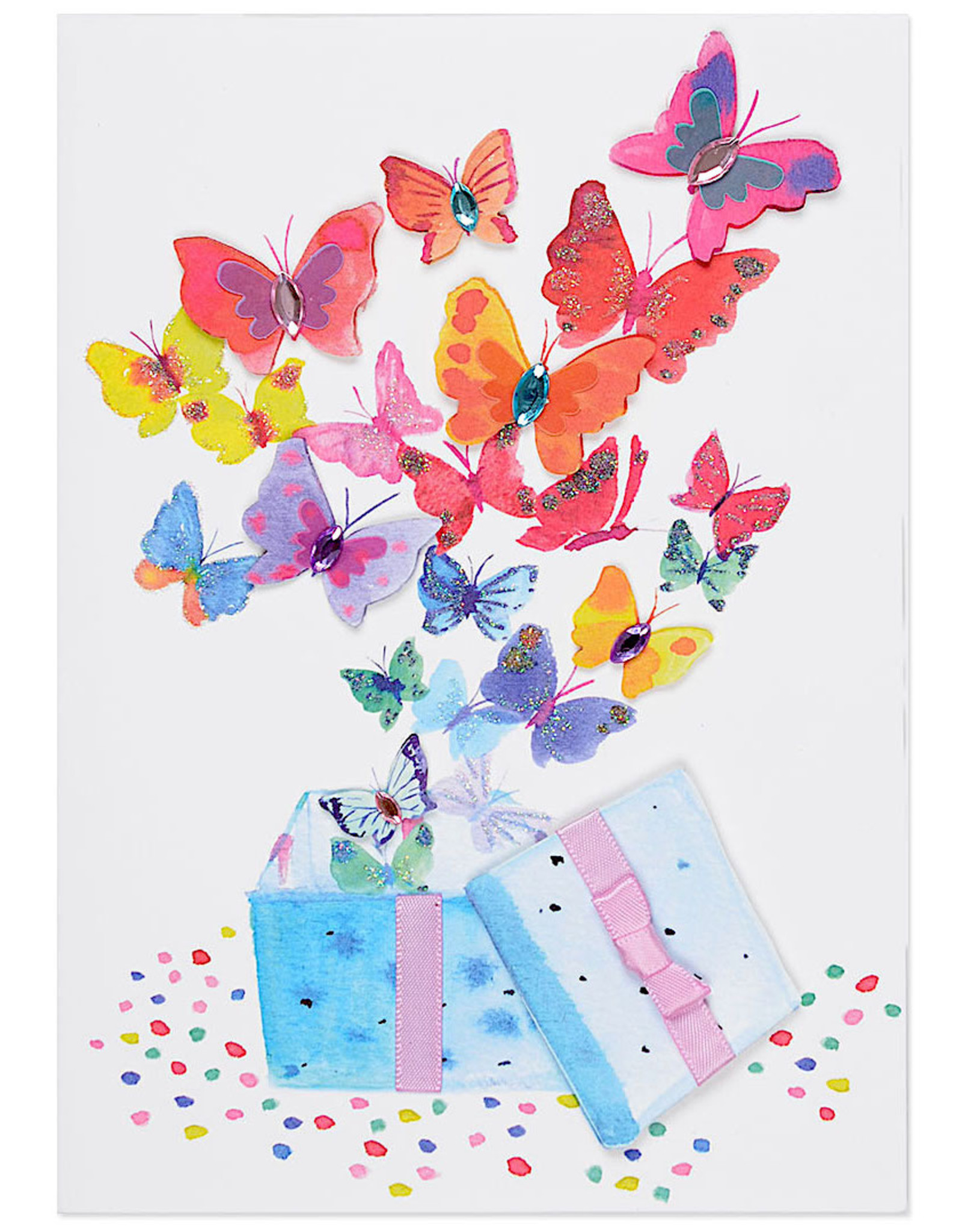 PAPYRUS® Birthday Card Bursting Butterflies Out Of Gift Box