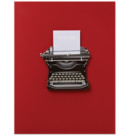 PAPYRUS® Thank You Card Handmade Typewriter With Thanks