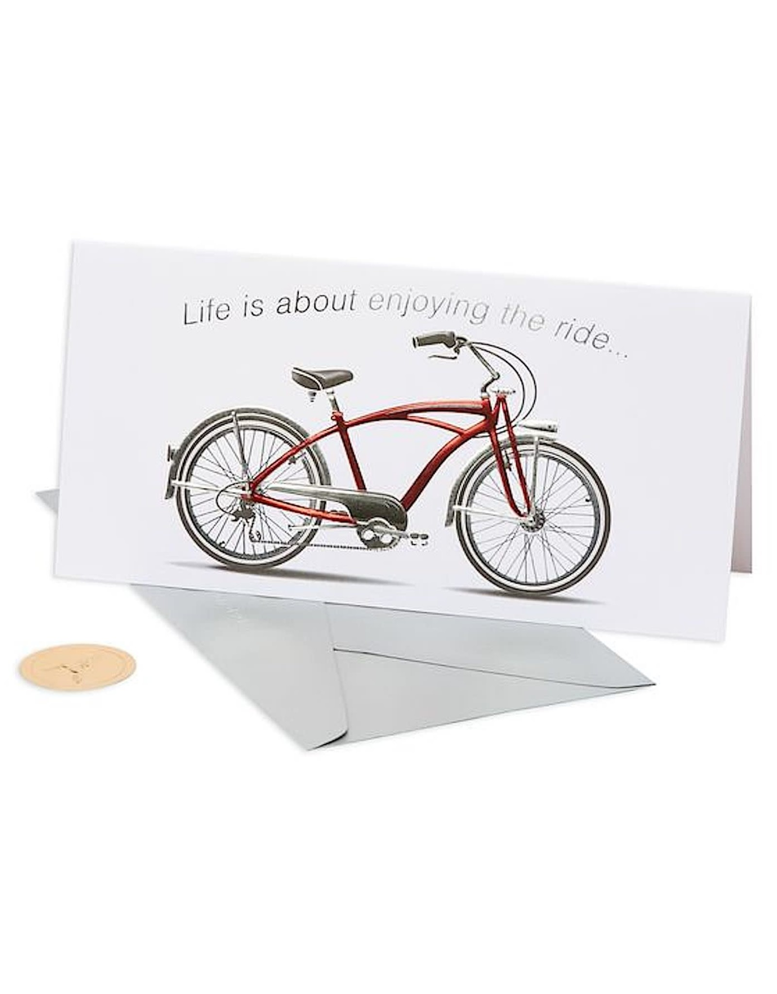 PAPYRUS® Birthday Card Bike Red Bicycle Enjoy The Ride