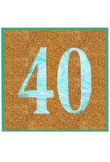 PAPYRUS® Birthday Card For 40th Birthday Glitter 40