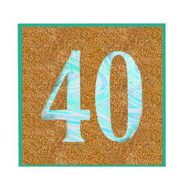 PAPYRUS® Birthday Card For 40th Birthday Glitter 40