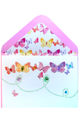 PAPYRUS® Birthday Card Butterflies With Gems And Glitter