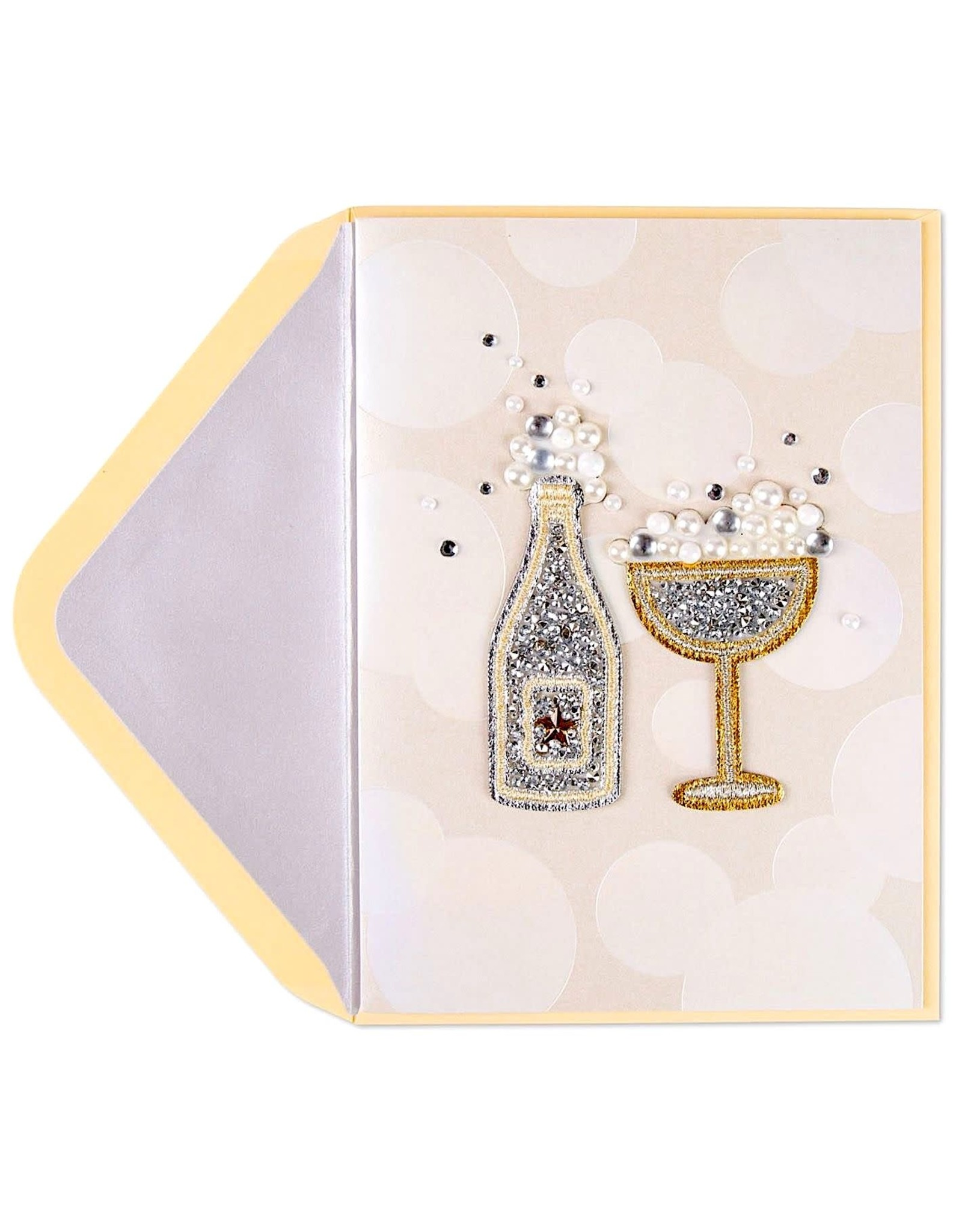 PAPYRUS® Blank Card Bubbles and Sparkles Sticky Patches