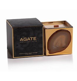 Zodax Agate Apothecary Guild Scented Candle Jar 7.7oz Black Currant Fragrance