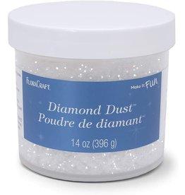 FloraCraft Crystal Diamond Dust Glitter - Snow 14 Ounce