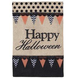 Darice Happy Halloween Burlap Garden Flag 12x18 Inch