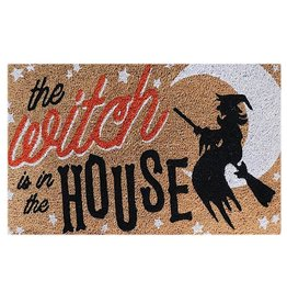 Darice Halloween Doormat The Witch Is In The House 29x17 Natural Coir