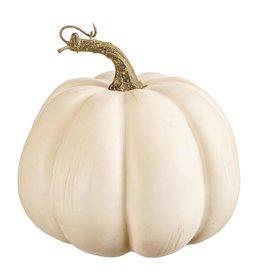 Darice Decorative Cream White Pumpkin 7W x 6H x 7D Inch