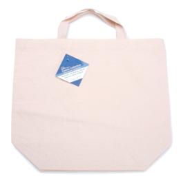 Darice Cotton Canvas Large Tote Bag 16X18x6 Inch Natural