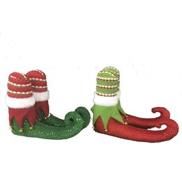 Darice Elf Shoes Decorations 2 Assorted Styles