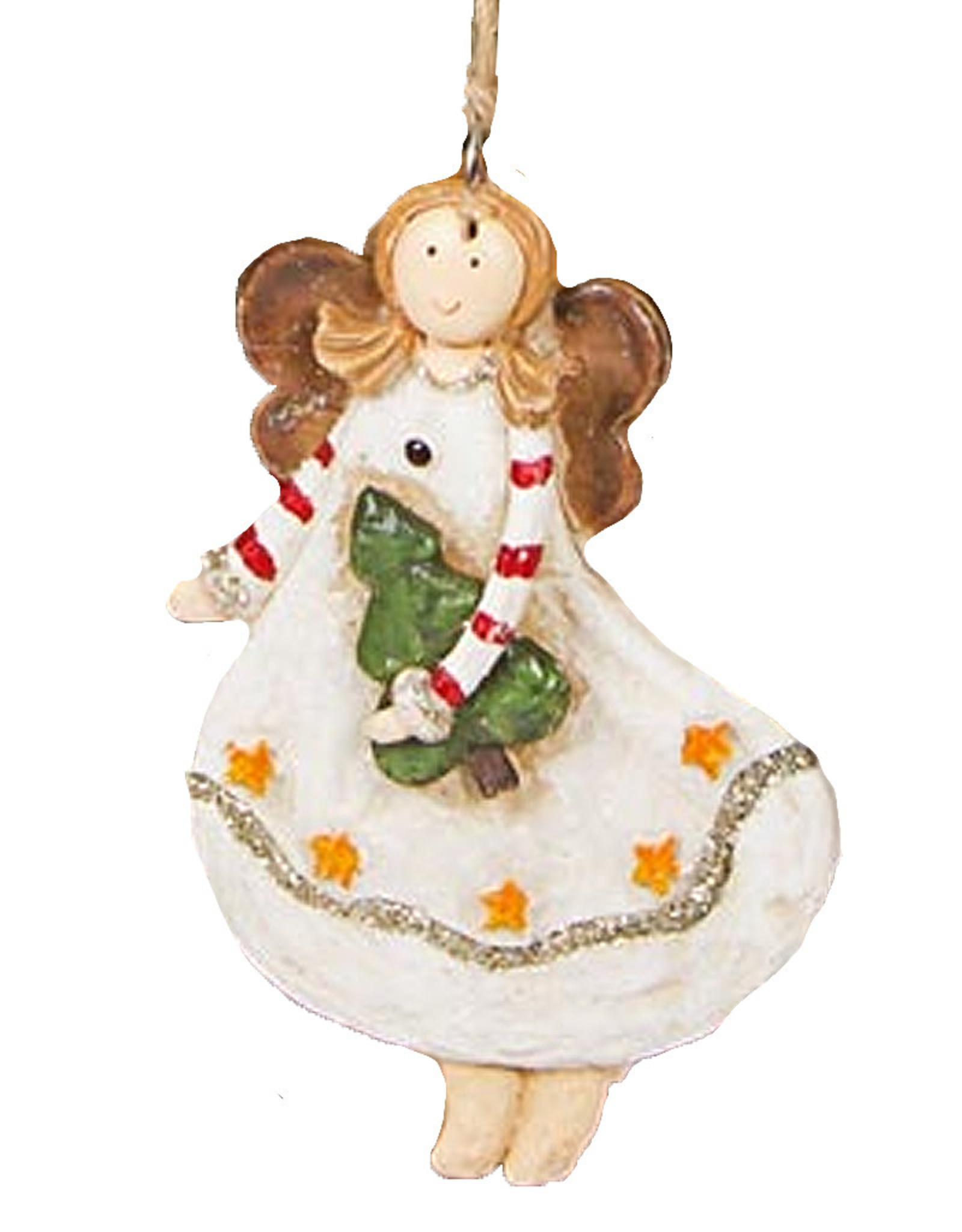 Darice Angel Ornament Flying Holding Christmas Tree