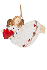 Darice Angel Ornament Flying Holding Heart