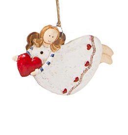 Darice Angel Ornament Flying Holding Heart
