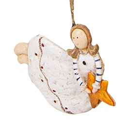 Darice Angel Ornament Flying Holding Star