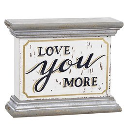 Darice Love You More Tabletop Or Shelf Sign 6x5 Inch