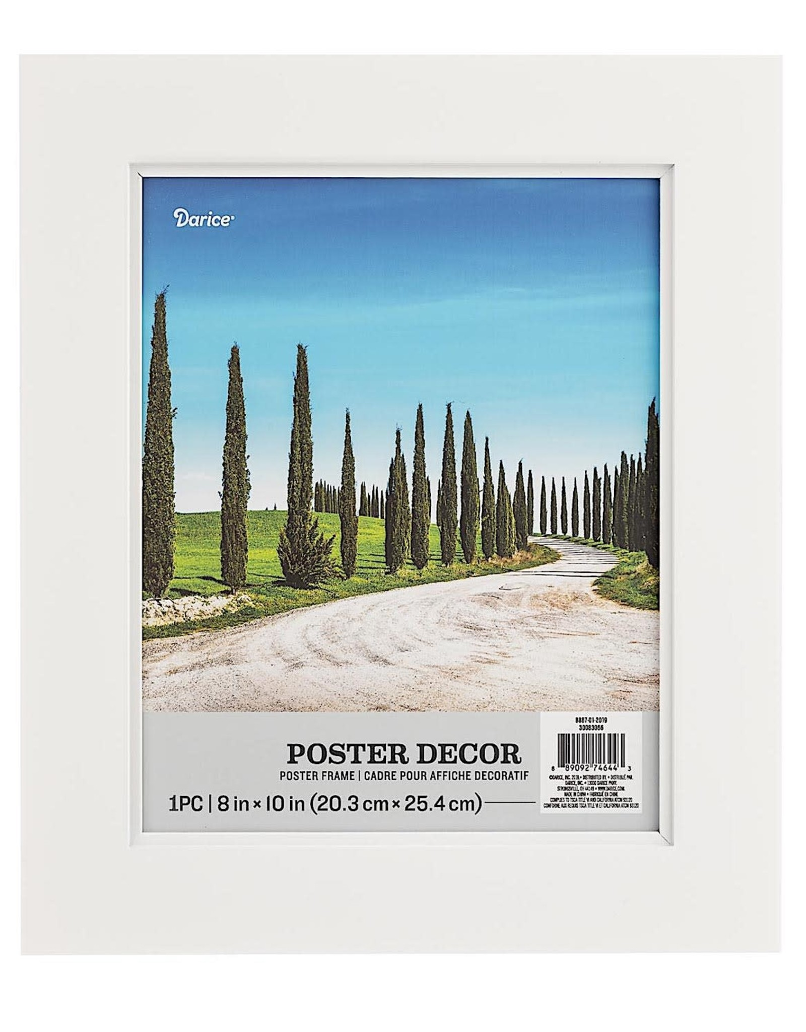 Darice 8x10 Poster Frame In White 11.25x13.25 Inch