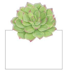 Caspari Table Place Cards Tent Style 8pk Succulents