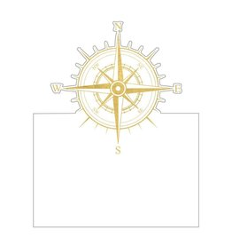 Caspari Nautical Table Place Cards Tent Style 8pk Weigh Anchor