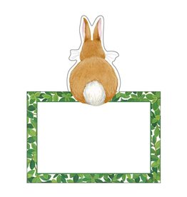 Caspari Easter Table Place Cards Tent Style 8pk Bunnies And Boxwood